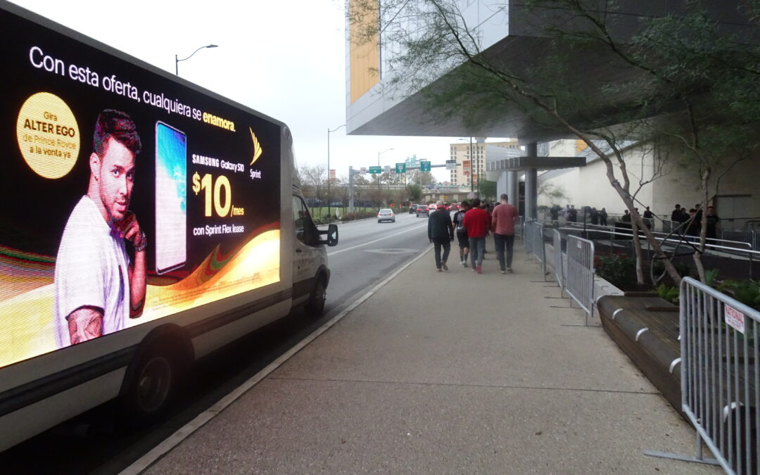 Sprint Mobile Digital Billboard Truck In San Antonio, TX